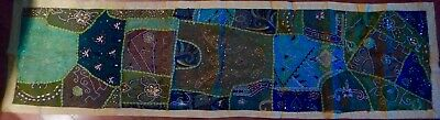 """72"""" X 19"""" long textile. Handcrafted in India with exquisite beadwork"""