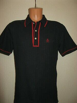 Worn Once Mens Boys Navy & Red Penguin Heritage Short Sleeve Polo Top 38/40 Ches
