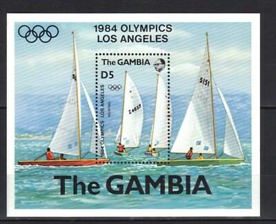 Gambia . Olympics Los Angeles Mini Sheet Mnh 1984