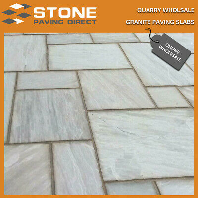 Kandla Grey Sandstone Paving Slabs, 22m Cal Patio Packs, 60Pcs/Crate, £19.88/m2