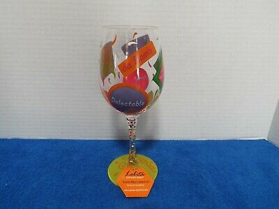 lolita wine glass Love my Letter D 15 OZ Hand Painted Wine Glass