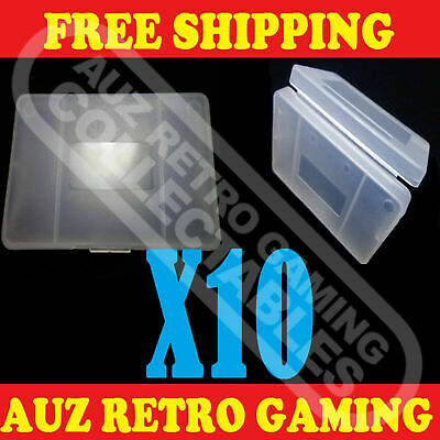 Clear Protective Game Cartridge Case Cover X10 For Nintendo GameBoy GBA / SP GBM