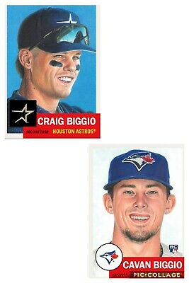 2 Card Lot Cavan Biggio RC & Craig HOF 2019 Topps Living Set #209 208 Limited PR