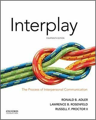 INTERPLAY PROCESS Of Interpersonal Communication 14th Edition Text Book P D F
