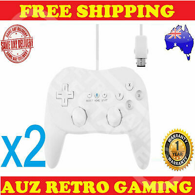 2x Classic Pro JoyPad GamePad Game Controller Remote for Nintendo Wii