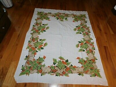 Calaprint California Tagged Ivy Tablecloth Vintage Mid Century 50 x 62 Inches