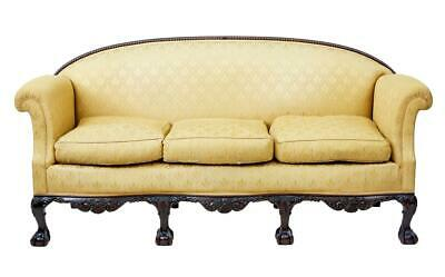 Early 20Th Century Chippendale Revival Carved Mahogany Sofa