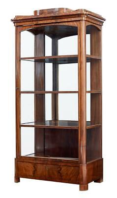 19Th Century Danish Mahogany Glazed Display Cabinet
