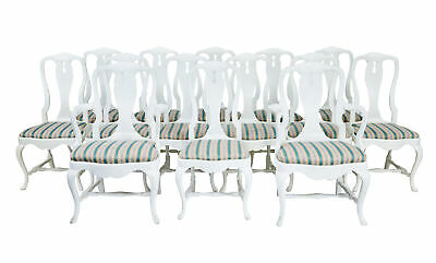 SET OF 14 1920's QUEEN ANNE DESIGN DINING CHAIRS