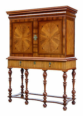1920's INLAID WALNUT AND ROSEWOOD CABINET ON STAND