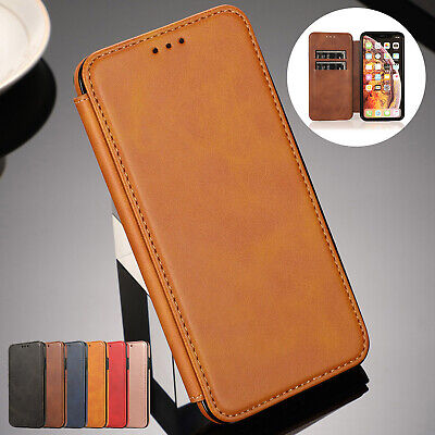 For iPhone 6 Plus 7 8 XS Max XR Case Deluxe Magnetic Leather Wallet Case Cover