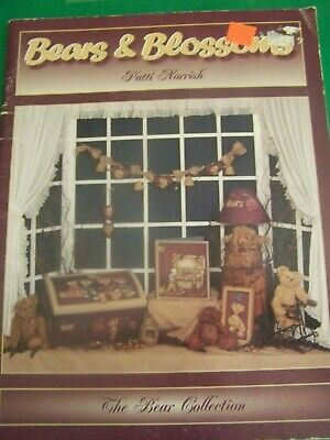 Bears & Blossoms By Patti Norrish Birdhouses Gardens 1999 Tole Paint Book