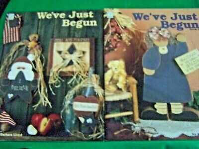 Lot Of 2 We've Just Begun Book 1 & Book 2 1994, 1995 By Barbara Lloyd Tole Paint