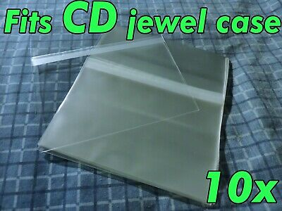 10x CD Standard Jewel Case Resealable Protective Plastic Sleeve Bags Sleeves OPP