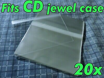 20x CD Standard Jewel Case Resealable Protective Plastic Sleeve Bags Sleeves OPP