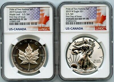 2019 Pride Of Two Nations Limited Edition Coins Set Ngc Pf 70 F.d.i 5758053-068