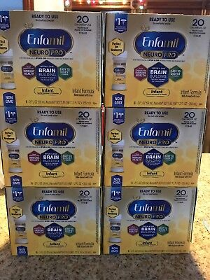 Enfamil Neuro Pro Ready to Use Formula 2oz Bottles Lot of 6 Boxes Exp 5/1/2020