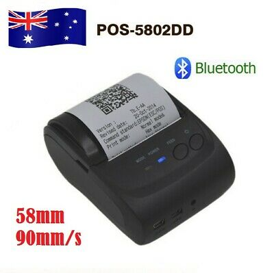 Portable Wireless Bluetooth 58mm ESC/POS/STAR Thermal Dot Receipt Printer 90mm/s