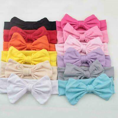 Nice Fashion 12 For Newborn Baby Toddlers Girls Hair Band Bow Turban Band H V9F1