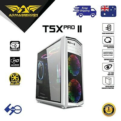 Computer Gaming Case ARMAGGEDDON T5X Pro II ATX Tower without PSU without Fan