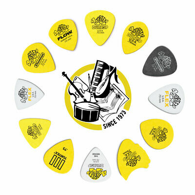 12 X Jim Dunlop Tortex 0.73mm Variety Guitar Picks *NEW* Standard Flex Wedge