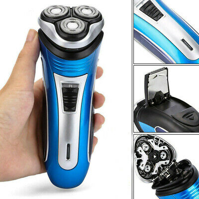 Men Electric Rotary Shaver Rechargeable 3D Triple Floating Head Trimmer Razor AU
