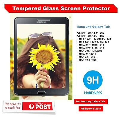 Tempered Glass Screen Protector for Samsung Galaxy Tab A 8.0 10.1 10.5 S4 S2 AU