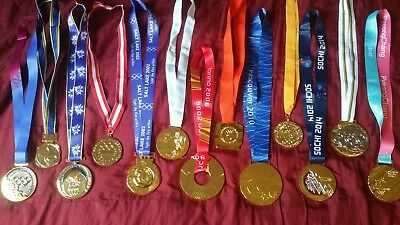 Gold Winter Olympic Medals 1976-2018 - Full set - 12 x MEDAL