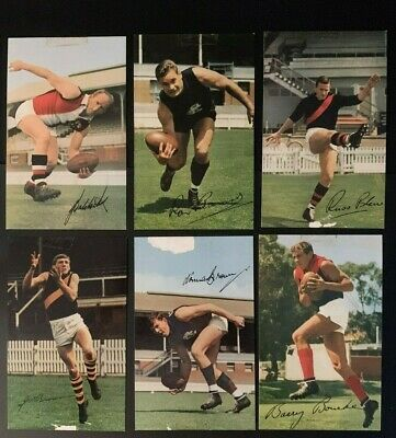Complete set 40 MOBIL CARDS FOOTY PHOTOS INC BARASSI SKILTON BALDOCK WADE