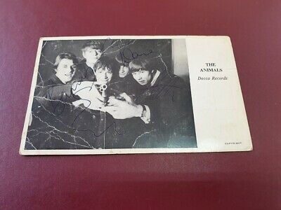 The Animals Signed Autograph