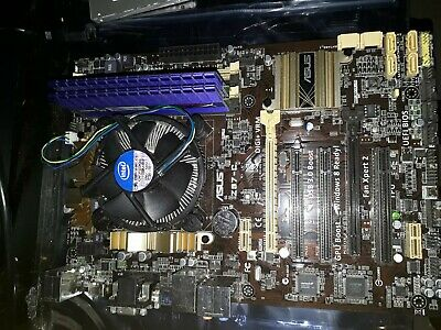 Asus Z87-C motherboard (replaced cap) / Core i5 4570 / 4gb DDR 3 bundle