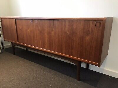 Teak Sideboard Record Cabinet With Draw Retro Mid Century Eames
