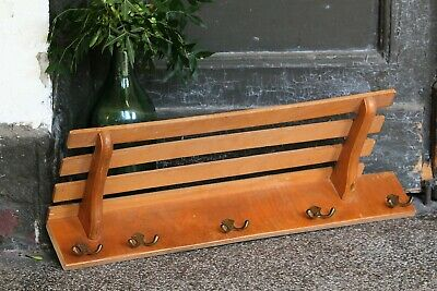 Wall Mounted Coat Rack Wooden Clothes Rack Cloth Hanger Vintage Jacket Holder