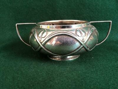 Edwardian H/M B'Ham Sterling Silver Art Nouveau Hand Finished Repoussé Bowl 126g