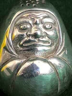 C19th Chinese Export Sterling Silver Immortal Tribute Self-righting Pepperette