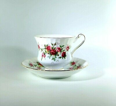 Paragon China Fine Bone China England Tea Cup and Saucer Red Roses