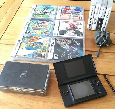 Black Nintendo Ds Lite Console, Charger and Games Bundle!