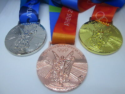 ATHENS 2004 Olympic Replica MEDAL -  FULL SET - gold silver bronze