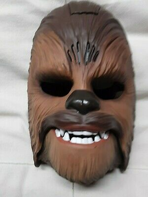 Chewbacca Wookie Star Wars Movie Roaring/Sound Effects Adjustable Mask  Ages 5+