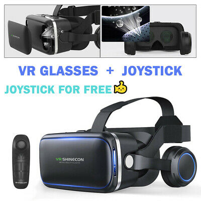 3D Virtual Reality VR Headset Movie Glasses Goggles Box For Samsung Galaxy S8 8+