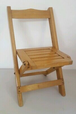 Original Early Arts&Crafts WOODEN Childs/ Dolls FOLDING CHAIR