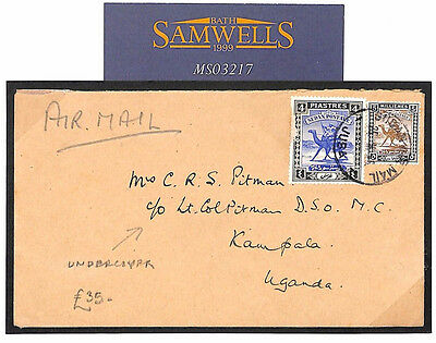 MS3217 Commonwealth Covers 1945 WW2 SUDAN *Game Warden* Undercover Mail
