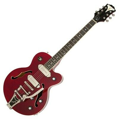 Epiphone Wildkat with Bigsby. Wine Red Archtop, smaller-body, semi-hollow. RARE