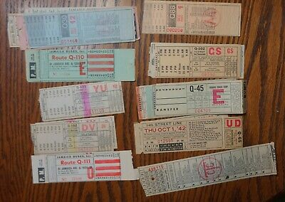 40+ Bus/Trolley Paper Transfers Jamaica Buses/Triboro Coach
