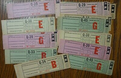 45+ Bus/Trolley Paper Transfers Triboro Coach Corp.