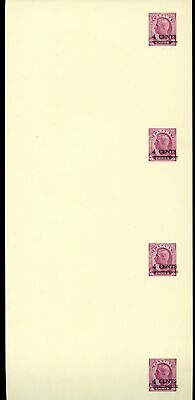 Lot 77110 Canada Ux82 Uncutstrip Of 4 Postal Stationery King George V1