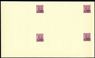 Lot 77111 Canada Ux82 Uncut  Block Of 4  Postal Stationery King George V1