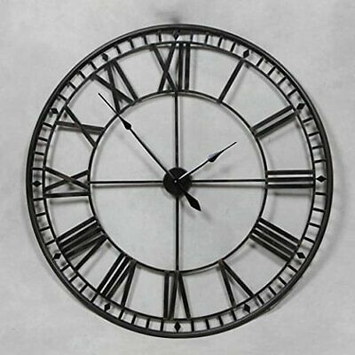 80Cm Extra Large Roman Numerals Skeleton Wall Clock Big Giant Open Face Round