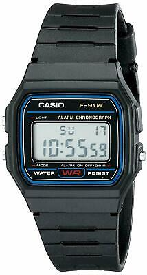 Montre Casio Homme Affichage Digital Bracelet en plastique Collection F-91W-1DG