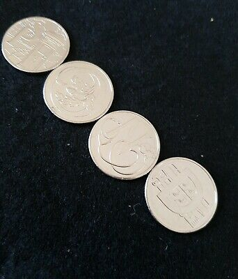 10p alphabet coins X 4   Uncirculated 2019